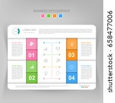 infographic template of four... | Shutterstock .eps vector #658477006