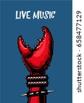 live music poster with crab... | Shutterstock .eps vector #658477129