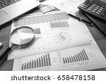 business accessories  notebook  ... | Shutterstock . vector #658478158