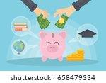 money for education. | Shutterstock .eps vector #658479334