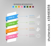 four ribbons for infographics ... | Shutterstock .eps vector #658480858
