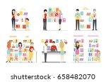 book store set.   Shutterstock .eps vector #658482070