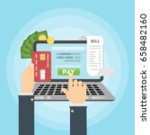 paying bill online. | Shutterstock .eps vector #658482160