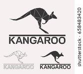 kangaroo geometric lines... | Shutterstock .eps vector #658483420