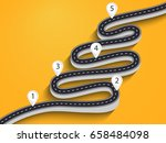 3d winding road on a colorful... | Shutterstock .eps vector #658484098