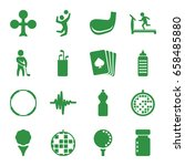 club icons set. set of 16 club... | Shutterstock .eps vector #658485880