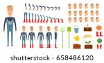farmer character creation set.... | Shutterstock .eps vector #658486120