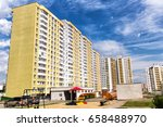 high residential building.... | Shutterstock . vector #658488970