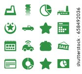 trendy icons set. set of 16...