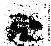 black friday sale lettering... | Shutterstock .eps vector #658498198