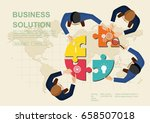concepts for business teamwork... | Shutterstock .eps vector #658507018