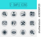 vector illustration set of... | Shutterstock .eps vector #658508920