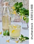 a cold drink of lemonade with... | Shutterstock . vector #658511488