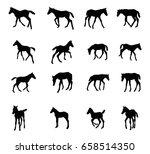 set of vector standing ... | Shutterstock .eps vector #658514350