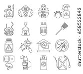 pest control tools icons set.... | Shutterstock .eps vector #658522843