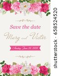 wedding invitation cards with... | Shutterstock .eps vector #658524520