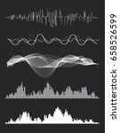 vector music sound waves set.... | Shutterstock .eps vector #658526599