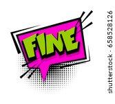 lettering fine. comic book... | Shutterstock .eps vector #658528126