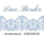 template of card with blue lace ... | Shutterstock .eps vector #658528420