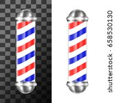 classic barbershop pole with... | Shutterstock .eps vector #658530130