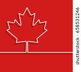 canadian maple leaf symbol.... | Shutterstock .eps vector #658531246
