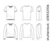 vector clothing templates.... | Shutterstock .eps vector #658532506