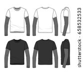 sport long sleeved t shirt with ... | Shutterstock .eps vector #658532533