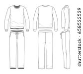 men's track suit. blank vector... | Shutterstock .eps vector #658532539