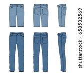 blank vector templates of men's ... | Shutterstock .eps vector #658532569