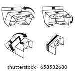 short instruction for vr...   Shutterstock .eps vector #658532680