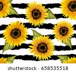 beautiful seamless pattern with ... | Shutterstock .eps vector #658535518