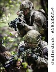 group of soldiers special forces | Shutterstock . vector #658538254