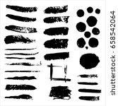 vector set of grunge black... | Shutterstock .eps vector #658542064