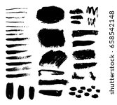 vector set of grunge black... | Shutterstock .eps vector #658542148