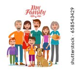 family portrait. happy people ... | Shutterstock .eps vector #658543429