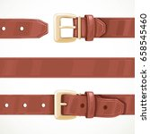 leather brown belt buttoned ... | Shutterstock .eps vector #658545460