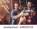 cheers  my friends  three... | Shutterstock . vector #658555729