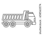 dumper truck icon in outline... | Shutterstock . vector #658563574