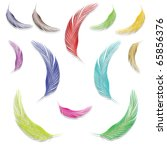 feathers in colors against... | Shutterstock .eps vector #65856376