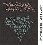 calligraphic vector alphabet....   Shutterstock .eps vector #658566004