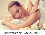 massage and body  care. spa... | Shutterstock . vector #658567540