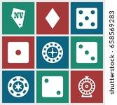 vegas icons set. set of 9 vegas ...   Shutterstock .eps vector #658569283
