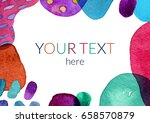 watercolor abstract background... | Shutterstock . vector #658570879