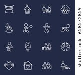 set of 16 people outline icons... | Shutterstock .eps vector #658572859