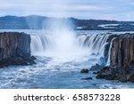 selfoss waterfall. beauty of... | Shutterstock . vector #658573228