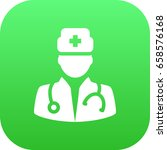 isolated doctor icon symbol on... | Shutterstock .eps vector #658576168