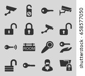 private icons set. set of 16... | Shutterstock .eps vector #658577050