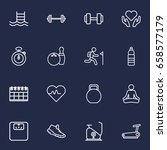 set of 16 training outline... | Shutterstock .eps vector #658577179