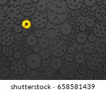 gears and cogs with one... | Shutterstock . vector #658581439