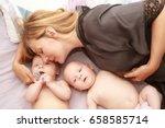 indoor portrait of young happy... | Shutterstock . vector #658585714
